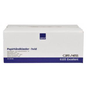 Essuie-mains blanc en cellulose